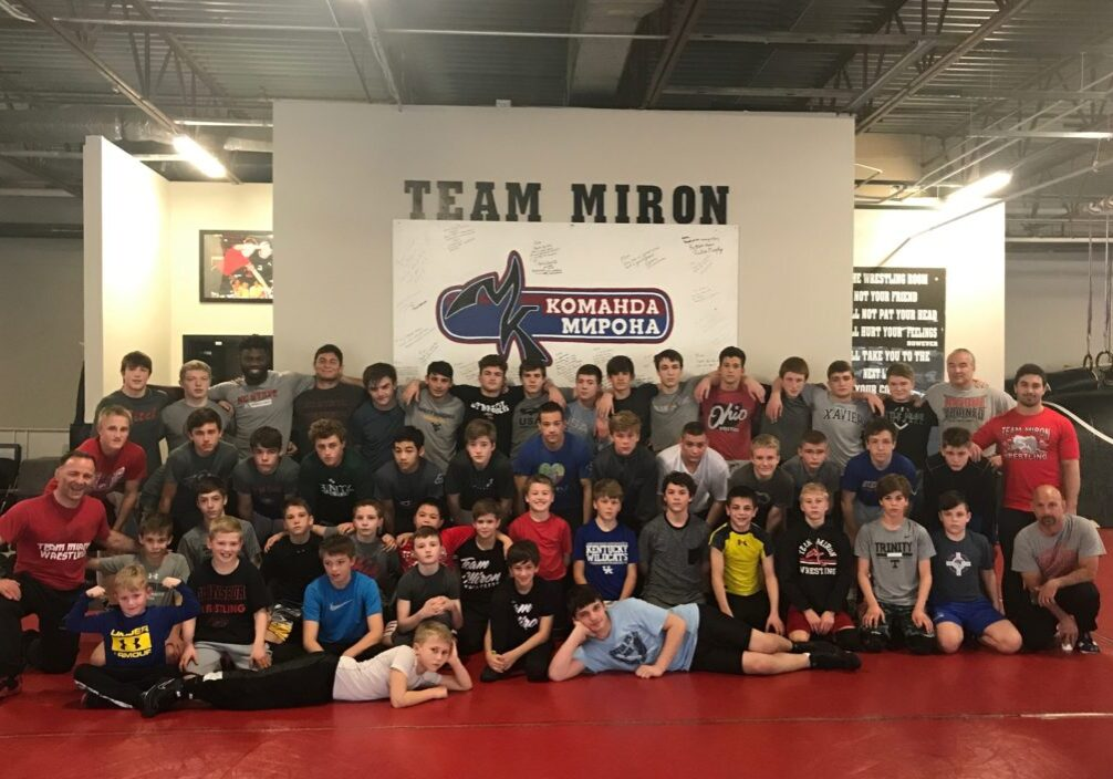 NCAA Champion training with Miron